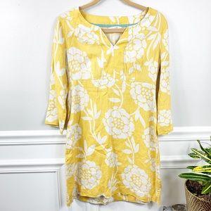 Boden Yellow Long Sleeve Dress